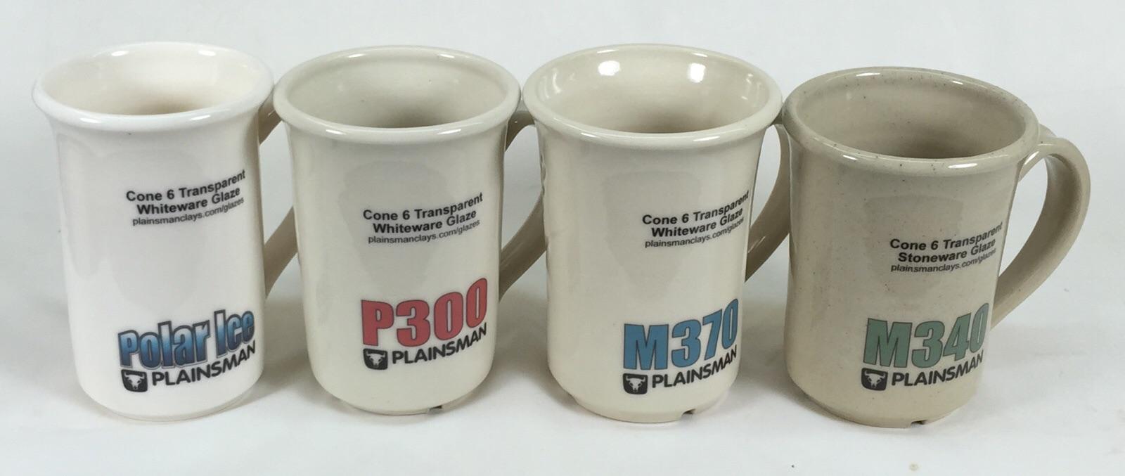 Plainsman Polar Ice P300 M370 And M340 With G2926b Whiteware Transpa Glaze On The Porcelain G2916f Stoneware